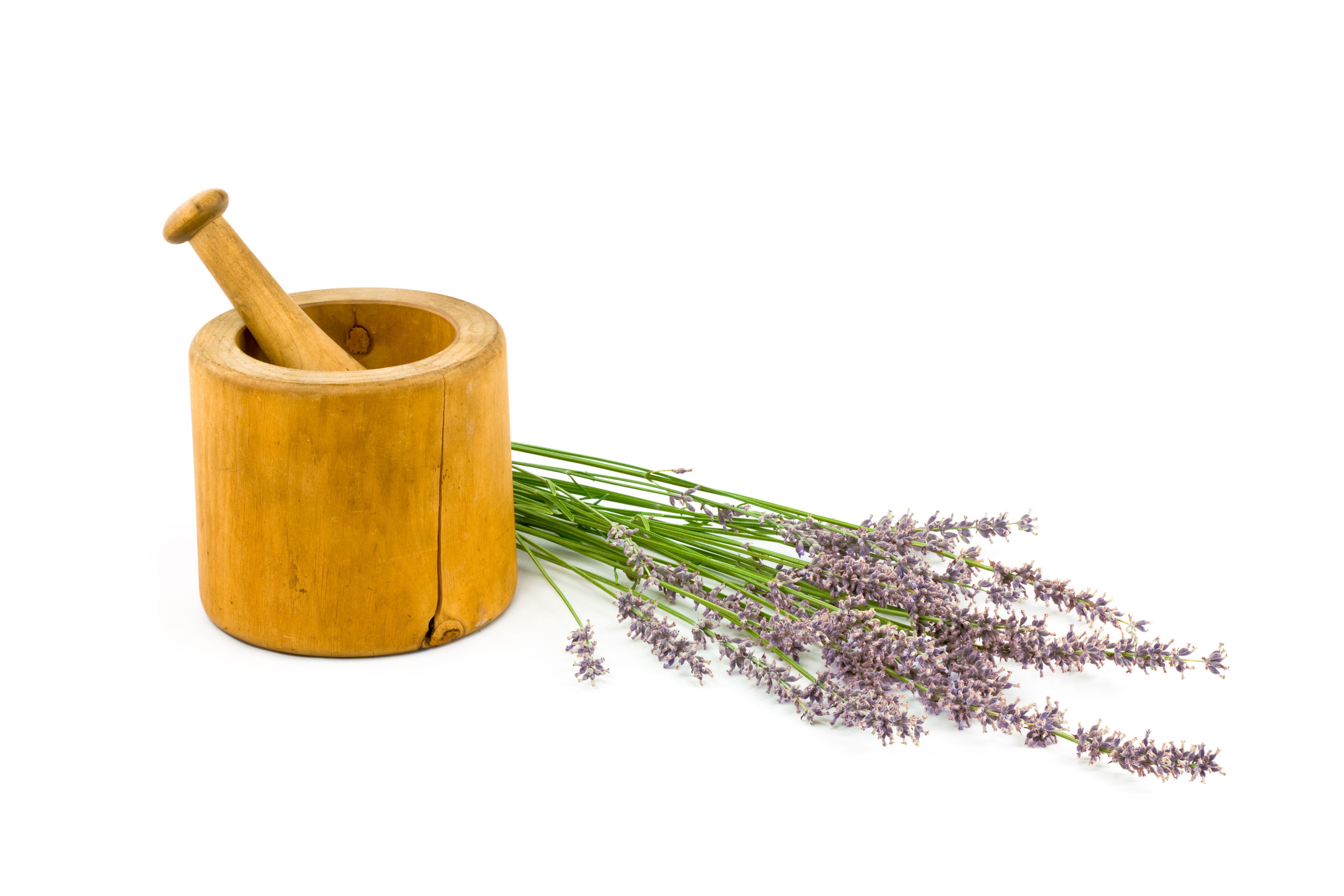 French Lavender with Mortar and Pestle